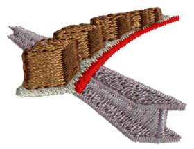 "Embroidery Design: Conveyor Belt1.54"" x 1.20"""