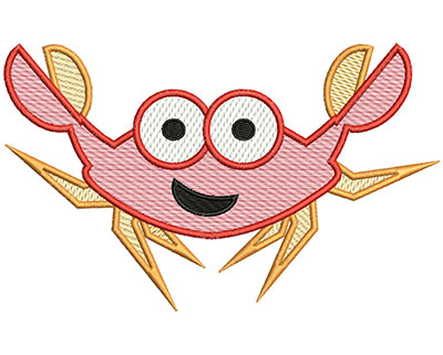 Embroidery Design: Crab Mylar 6.75w X 4.16h