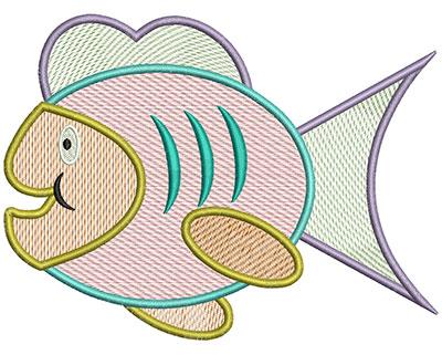 Embroidery Design: Fish Mylar 6.62w X 4.97h