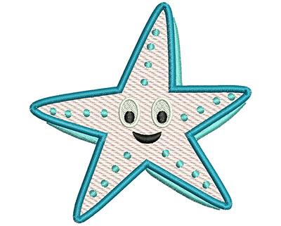 Embroidery Design: Starfish Mylar 4.15w X 4.13h