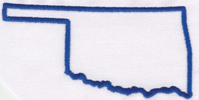 "Embroidery Design: Oklahoma Outline2.26"" x 4.57"""