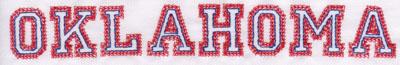 """Embroidery Design: Oklahoma Name1.12"""" x 8.03"""""""