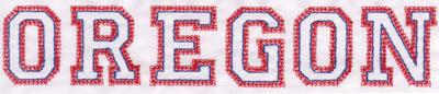 "Embroidery Design: Oregon Name1.52"" x 7.96"""