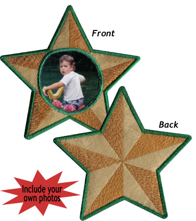 "Embroidery Design: Christmas Ornament Star4.35""w X 4.54""h"