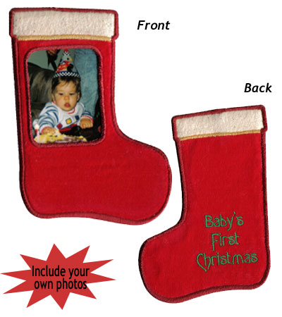 "Embroidery Design: Christmas Ornament Stocking3.65""w X 5.24""h"