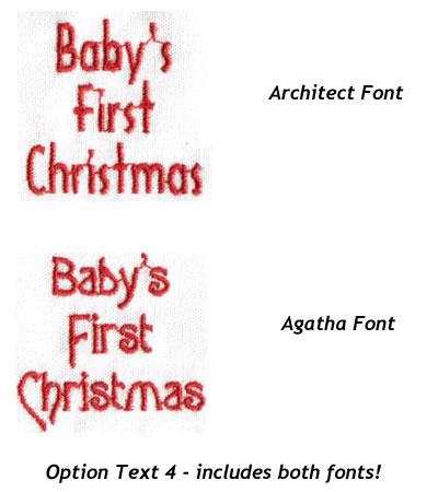 "Embroidery Design: Christmas Ornament Baby's First Christmas 1.66""w X 1.63""h"