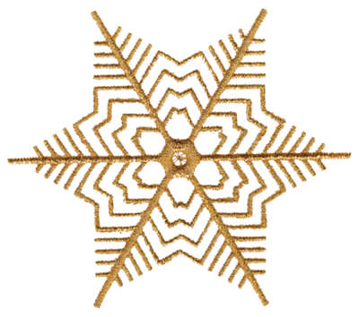 "Embroidery Design: Snow Flake3.51"" x 3.96"""