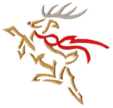 "Embroidery Design: Reindeer3.62"" x 3.40"""