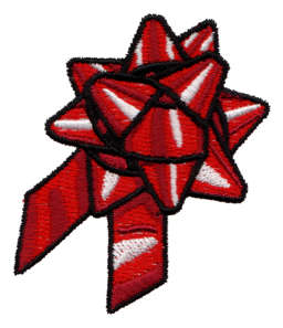 """Embroidery Design: Gift Bow2.12"""" x 2.62"""""""
