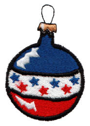 "Embroidery Design: Flag Ornament 21.60"" x 2.30"""
