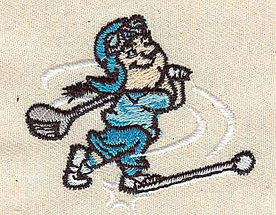 Embroidery Design: Cartoon golfer 2.00w X 1.75h