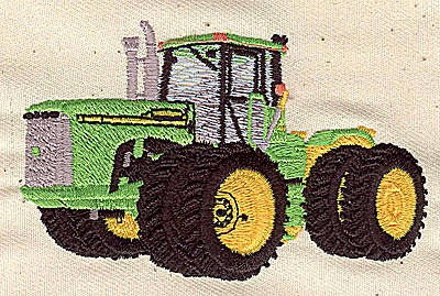 Embroidery Design: Tractor 3.37w X 2.01h