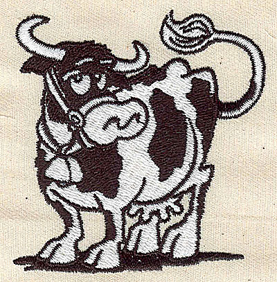 Embroidery Design: Cow 2.56w X 2.69h