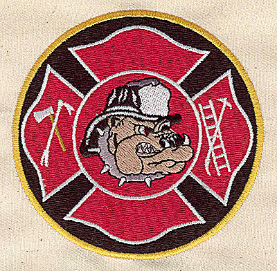 Embroidery Design: Firefighter logo 3.37w X 3.31h