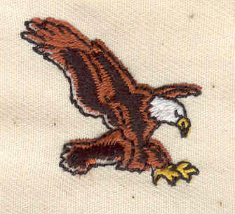 Embroidery Design: Eagle 1.25w X 1.12h