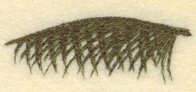 Embroidery Design: Palm Frond1.01w X 2.91h