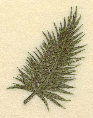 Embroidery Design: Palm Frond2.45w X 3.35h