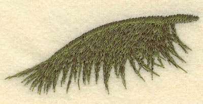 Embroidery Design: Palm Frond2.98w X 1.40h