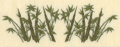 Embroidery Design: Bamboo with Leaves8.63w X 2.94h