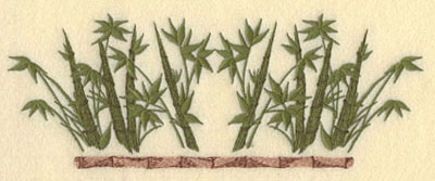 Embroidery Design: Bamboo with leaves and Bamboo Pole8.63w X 3.21h