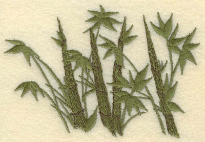 Embroidery Design: Bamboo with Leaves4.30w X 2.94h