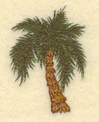 Embroidery Design: Palm Tree2.05w X 2.86h