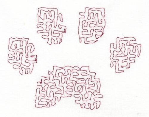 Embroidery Design: Stipple Paw Low4.74w X 3.65h