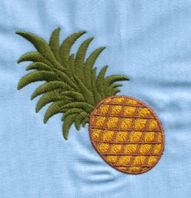 """Embroidery Design: Pineapple (small)2.87"""" x 2.96"""""""