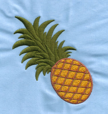 """Embroidery Design: Pineapple (large)3.87"""" x 3.99"""""""