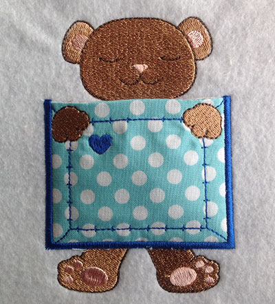 Embroidery Design: Pocket Topper Bear 3.28w X 4.72h