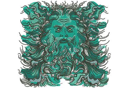 Embroidery Design: Poseidon Lg  8.23w X 7.85h