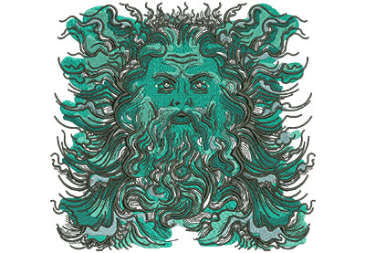 Embroidery Design: Poseidon Med  7.35w X 7.02h