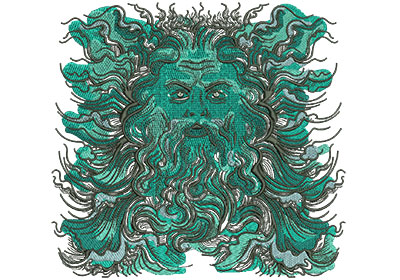 Embroidery Design: Poseidon Med Low Density 7.35w X 7.01h