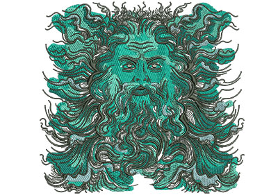 Embroidery Design: Poseidon Sm Low Density 6.35w X 6.06h