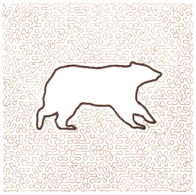 "Embroidery Design: Bear Quilt Square (Medium Stipple)3.98"" x 2.20"""