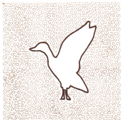 "Embroidery Design: Goose Quilt Square (Medium Stipple)5.97"" x 5.97"""