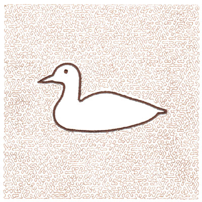 "Embroidery Design: Duck Quilt Square (Small Stipple)5.98"" x 5.98"""