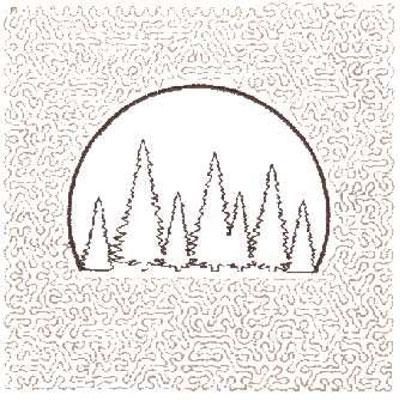 """Embroidery Design: Tree Scene Quilt Square (Medium Stipple)5.97"""" x 5.96"""""""