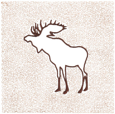 "Embroidery Design: Moose Quilt Square (Small Stipple)5.98"" x 5.96"""