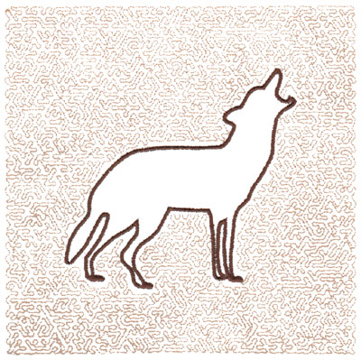 "Embroidery Design: Wolf Quilt Square (Small Stipple)5.98"" x 5.98"""
