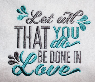 Embroidery Design: All You Do Be In Love Lg 6.44w X 5.58h
