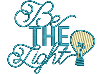 Embroidery Design: Be The Light Med 5.40w X 4.50h