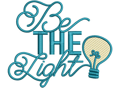 Embroidery Design: Be The Light Sm 4.05w X 3.38""