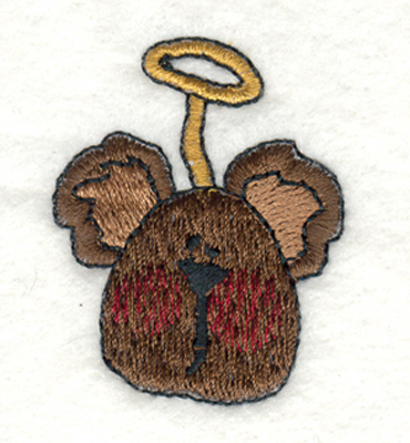 "Embroidery Design: Angel Bear1.38"" x 1.77"""