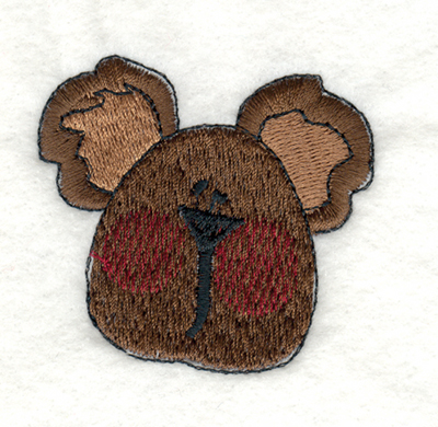 "Embroidery Design: Snickerdoodle Bear Think Spring2.31"" x 2.20"""
