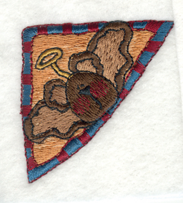 "Embroidery Design: Angel Bear corner2.00"" x 2.00"""