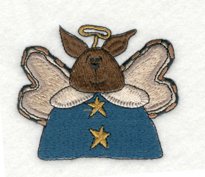 "Embroidery Design: Angle Bunny with Wings2.80"" x 2.39"""