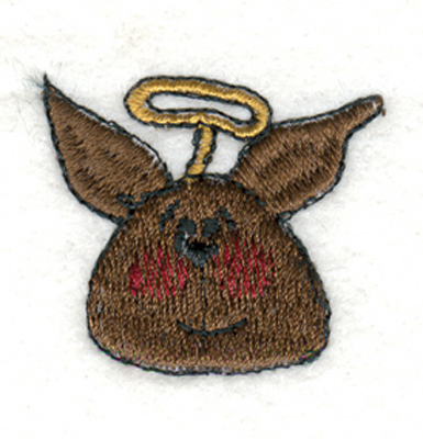 "Embroidery Design: Angel Bunny1.46"" x 1.33"""