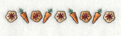 "Embroidery Design: Think Spring Carrots Border4.07"" x 0.60"""