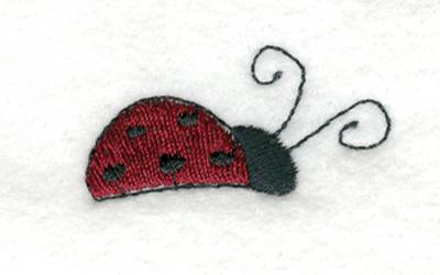 """Embroidery Design: Ladybug1.56"""" x 0.92"""""""
